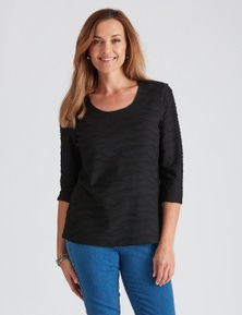 3/4 SLV TEXTURED TOP
