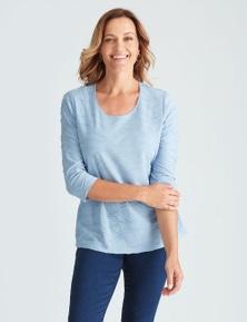 Millers 3/4 Sleeve Textured Top