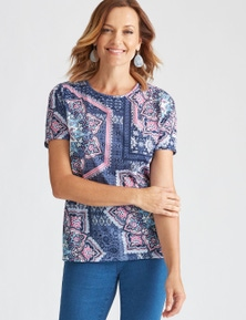 MILLERS SHORT SLEEVE PRINTED  TOP