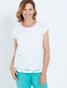 MILLERS EXTENDED SLEEVE LACE TOP
