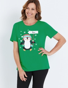 Millers Short Sleeve Christmas Print T-Shirt
