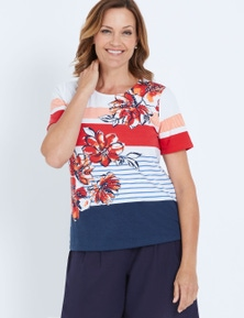 MILLERS SHORT SLEEVE PLACEMENT PRINTED TOP