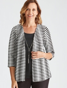 Millers 3/4 Sleeve Textured 2 in 1 with Necklace