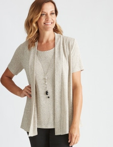 Millers Short Sleeve Textured 2 in 1 with Necklace