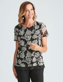 SHORT SLEEVE PRINT TOP