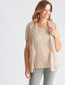 Millers Short Sleeve Lace 2 in 1 with Neckalce