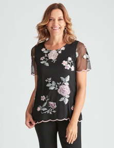 Millers Short Sleeve Floral Lace Top