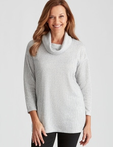 Millers Long Sleeve Ribbed Cowl Neck