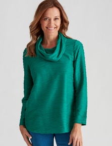 Millers Long Sleeve Textured Cowl Neck