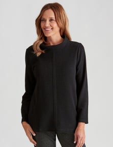 Millers Long Sleeve Textured Brushed Cowl Neck Top