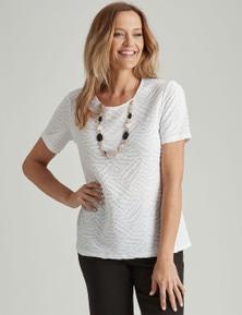 Millers Short Sleeve Textured Scoop Neck Top