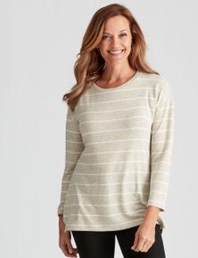 Millers Long Sleeve Stripe Brushed Top