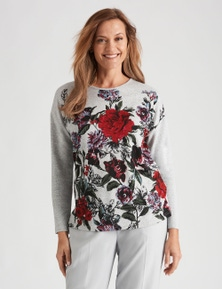 Millers Long Sleeve Placement Printed Brushed Top