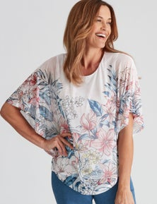 Millers Placement Printed Overlay Top