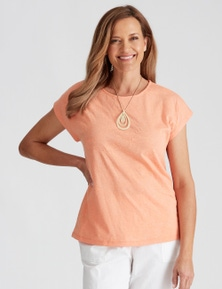 Millers Extended Sleeve Top with Burnout