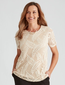 Millers Short Sleeve Lace Top