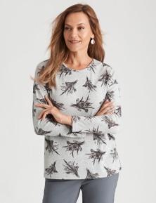 Millers Long Sleeve Printed Brushed Top