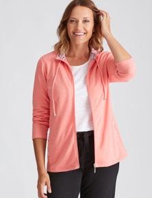 Millers Long Sleeve Melange Zip Jacket