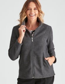 Millers Long Sleeve Textured Zip Through