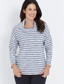 Millers Long Sleeve Cowl Neck Leisure Pullover
