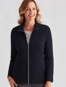 Millers Long Sleeve Quilted Zip Through