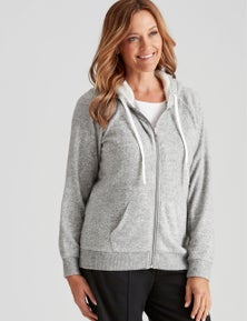 Millers Long Sleeve Zip Through with Sherpa Lined Hood