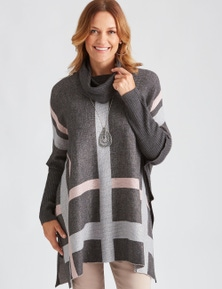 Millers Colourblock Poncho