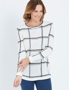 Millers Long Sleeve Check Jumper