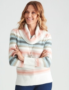 Millers Space Dye Stripe Cowl