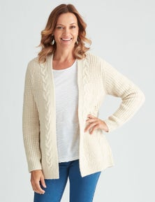 Millers Knit Cosy Cable Cardi