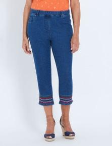 Millers embellished hem jean