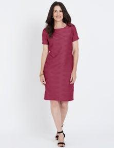 Millers Short Sleeve Textured Midi Dress