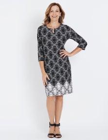 Millers 3/4 Sleeve Midi Dress
