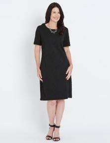 Millers Textured Knit Short Sleeve Dress