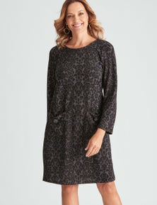 Millers Long Sleeve Brushed Knit Dress