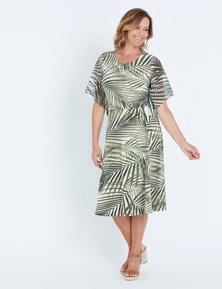 Millers Short Sleeve Floaty Fern Print Knit Dress