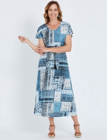Millers Short Sleeve Moroccan Print Maxi Dress