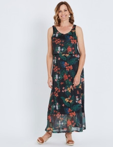 Millers Online Exclusive Sleeveless Layered Mesh Maxi
