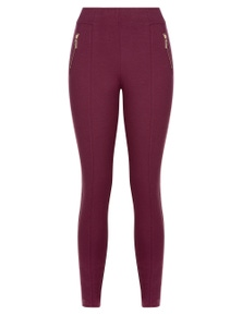 Millers Full Length Slim Leg Panelled Zip Ponte Pant