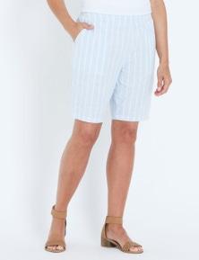 Millers Striped Pull On Cotton Slub Short