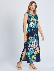 Millers Sleeveless Placement Tropicana Maxi Dress