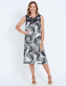 Millers Sleeveless Crochet Yoke Mono Midi Dress