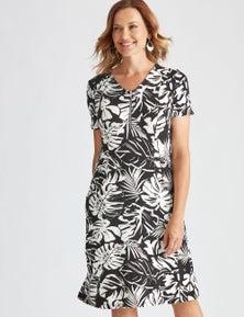 Millers Short Sleeve Midi Mono Dress