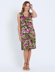 Millers Sleeveless Ring Detail Fern Print Dress