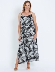 Millers Sleeveless Overlay Crinkle Maxi Dress