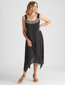 Millers Crinkle Neck Trim Maxi Dress