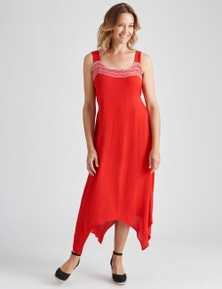 Millers Crinkle Neck Trim Maxi Dress
