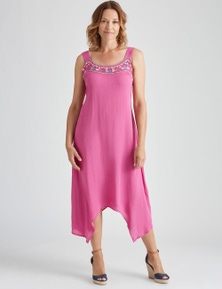 NECK TRIM MAXI DRESS
