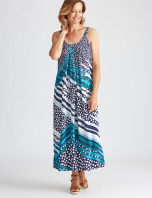 Millers rayon printed maxi dress