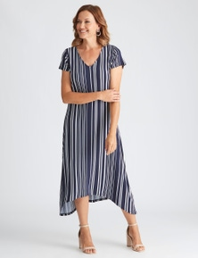 Millers extended sleeve striped knit dress
